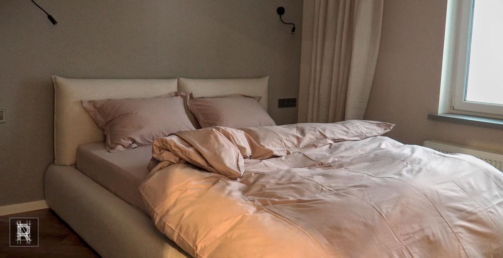 Фото спальни в пудро-розовом цвете