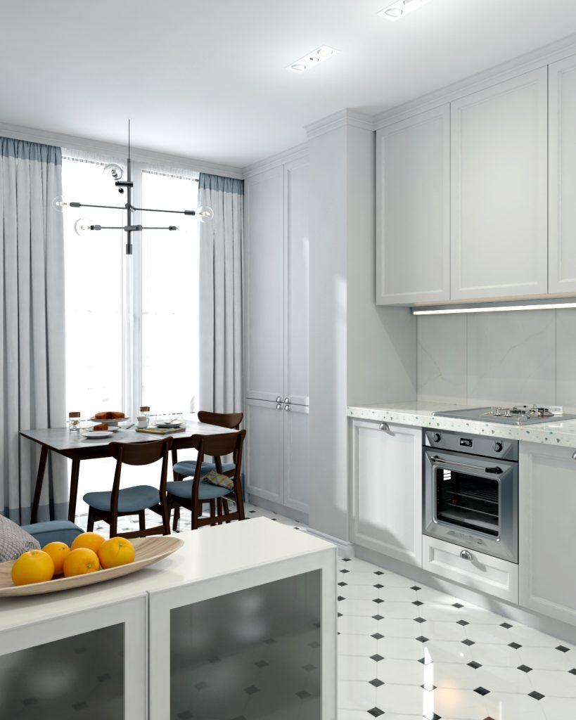 Изображение кухни с присоединенным балконом