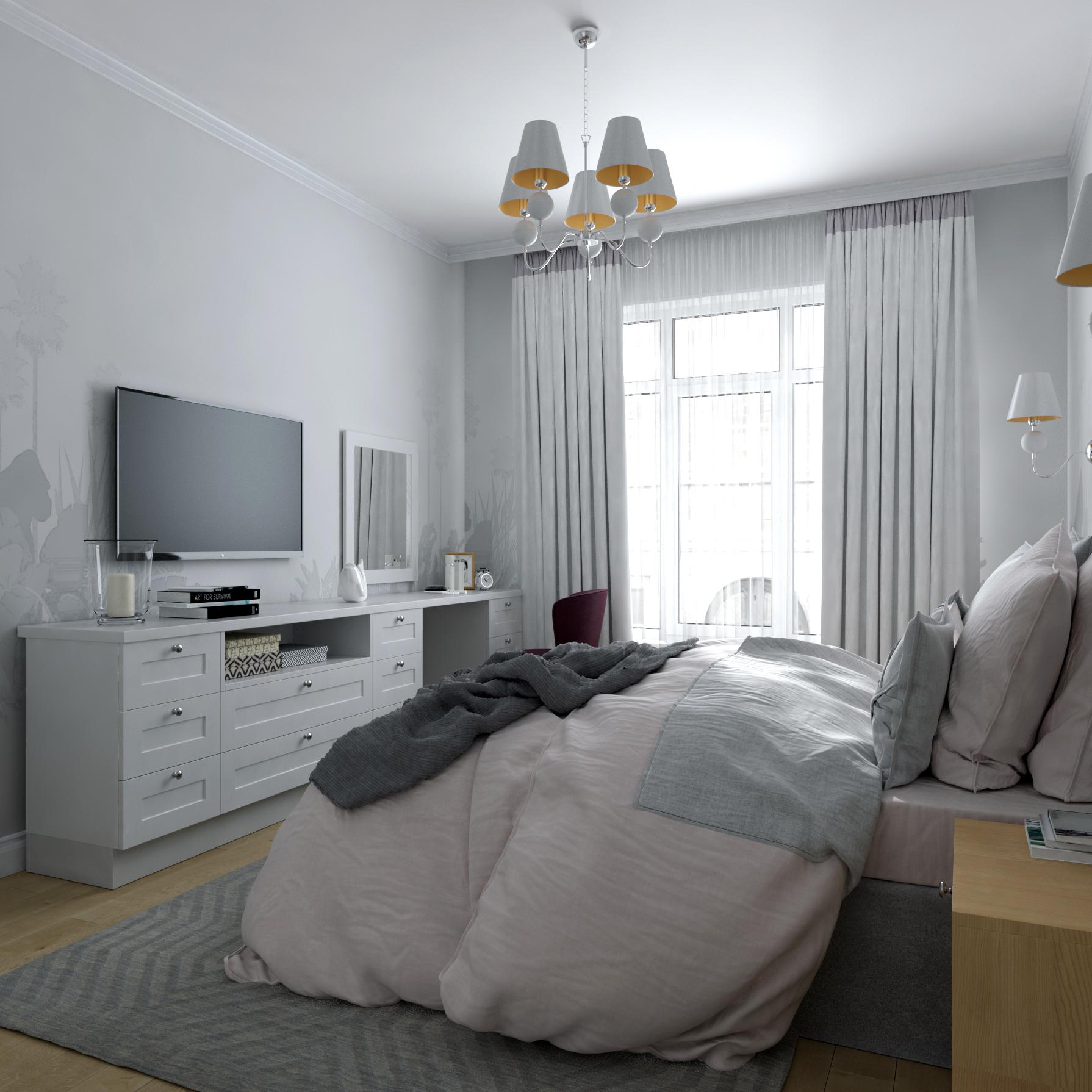 Изображение интерьера элегантной спальни