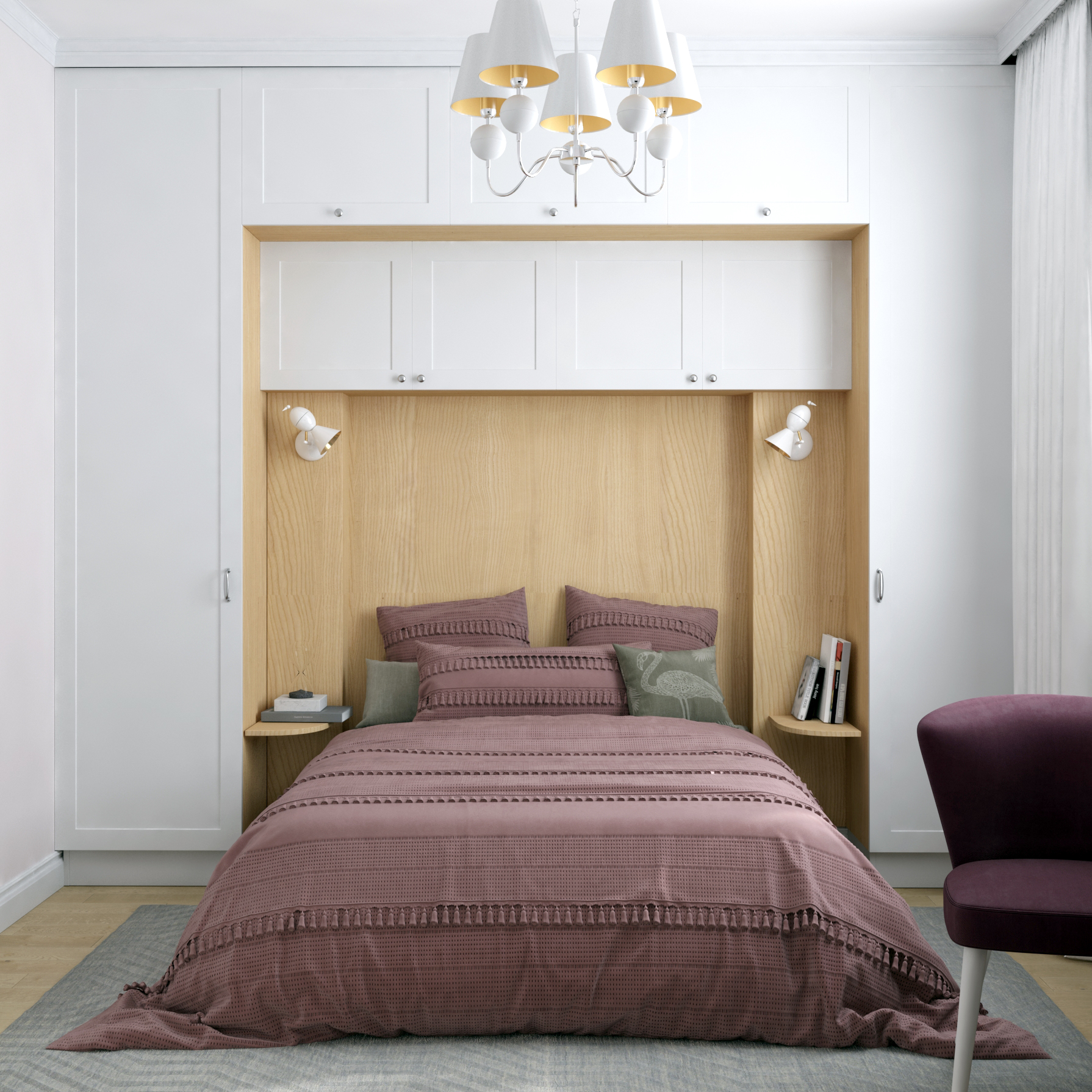 Изображение гостевой комфортной спальни