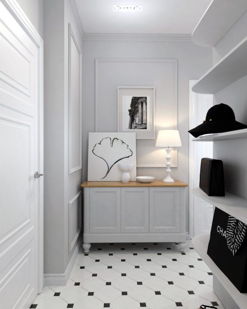 Картинка коридора для квартиры в классическом стиле