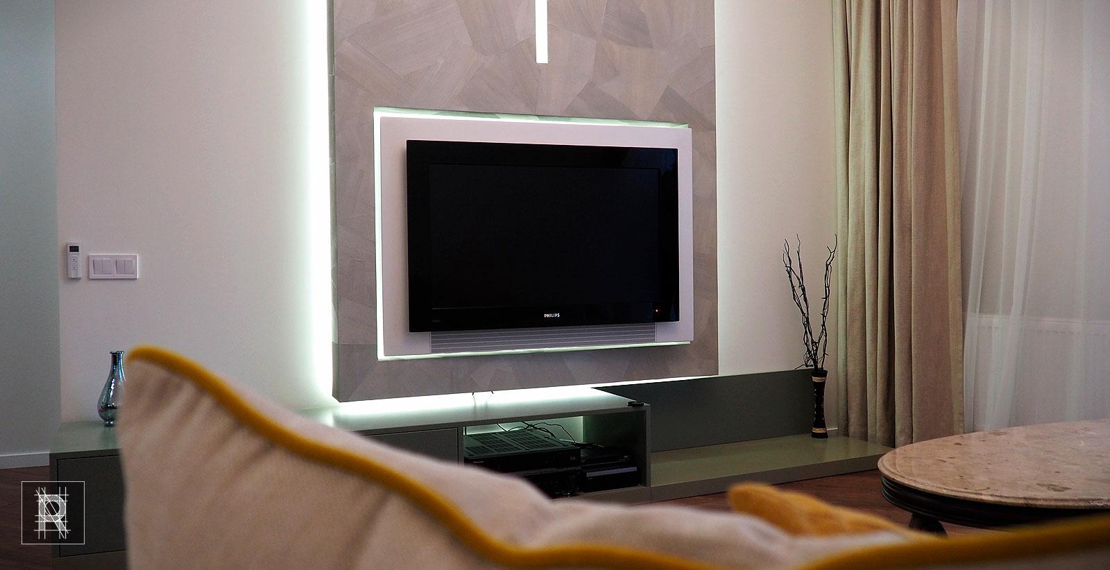 Фото гостиной с ГК конструкцией