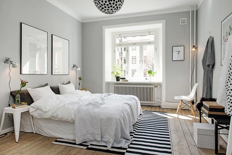 Фотография скандинавской светлой спальни