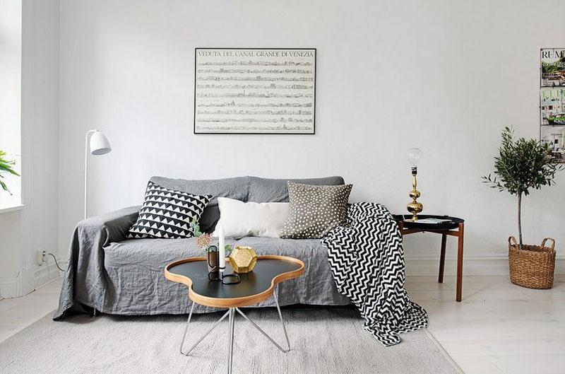 Картинка дивана в интерьере скандинавского стиля