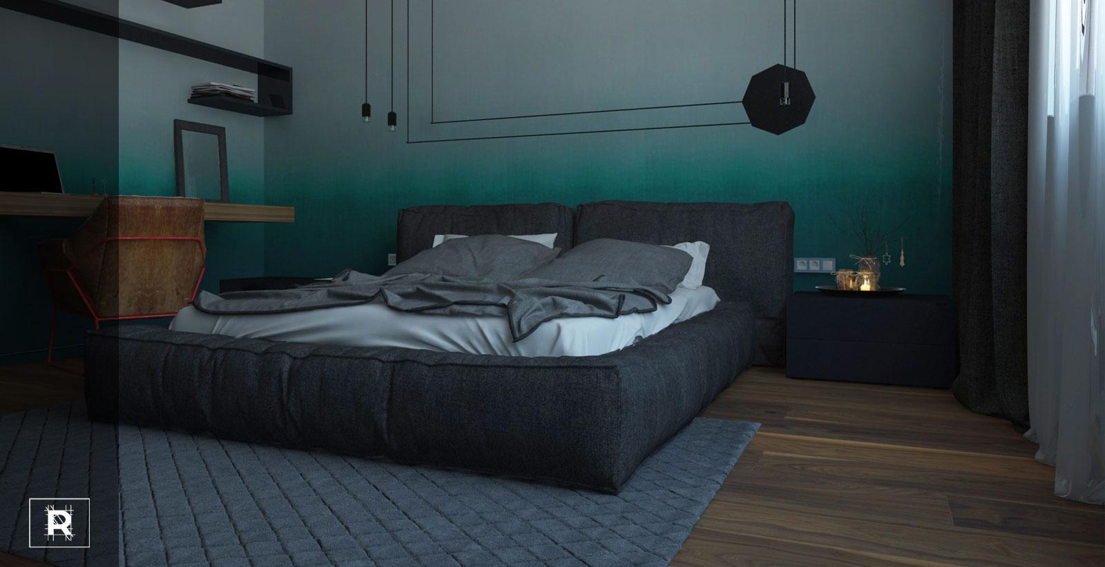 Спальня хайтековый минимализм