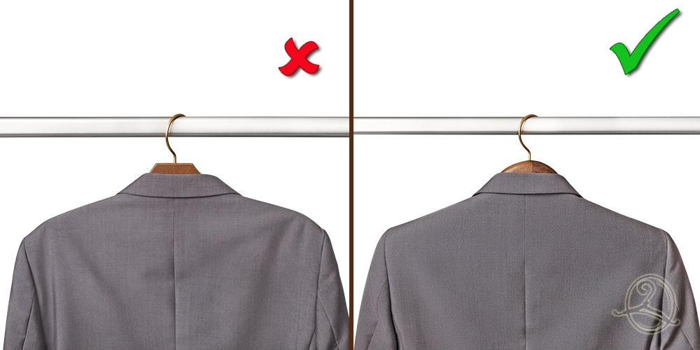 Пиджак на плечиках