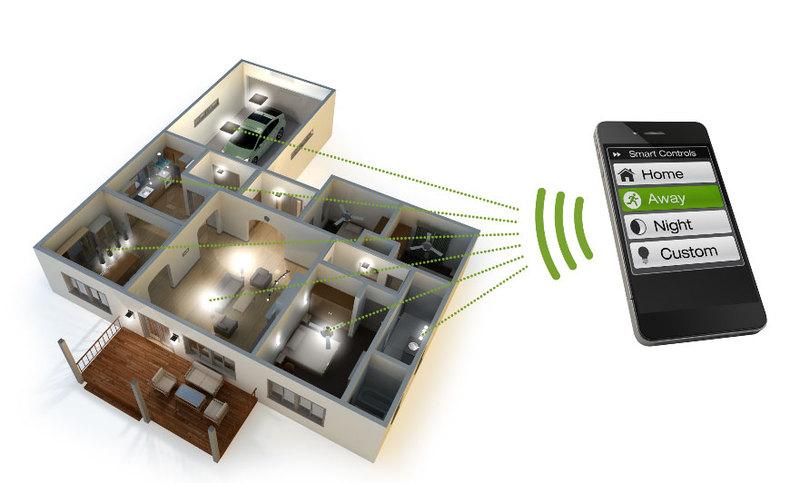 Телефон - приложение контроля освещения умного дома