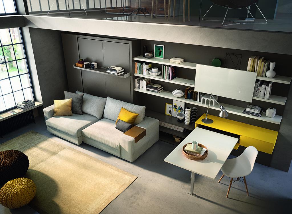 Фото дивана-кровати и задвигающегося стола