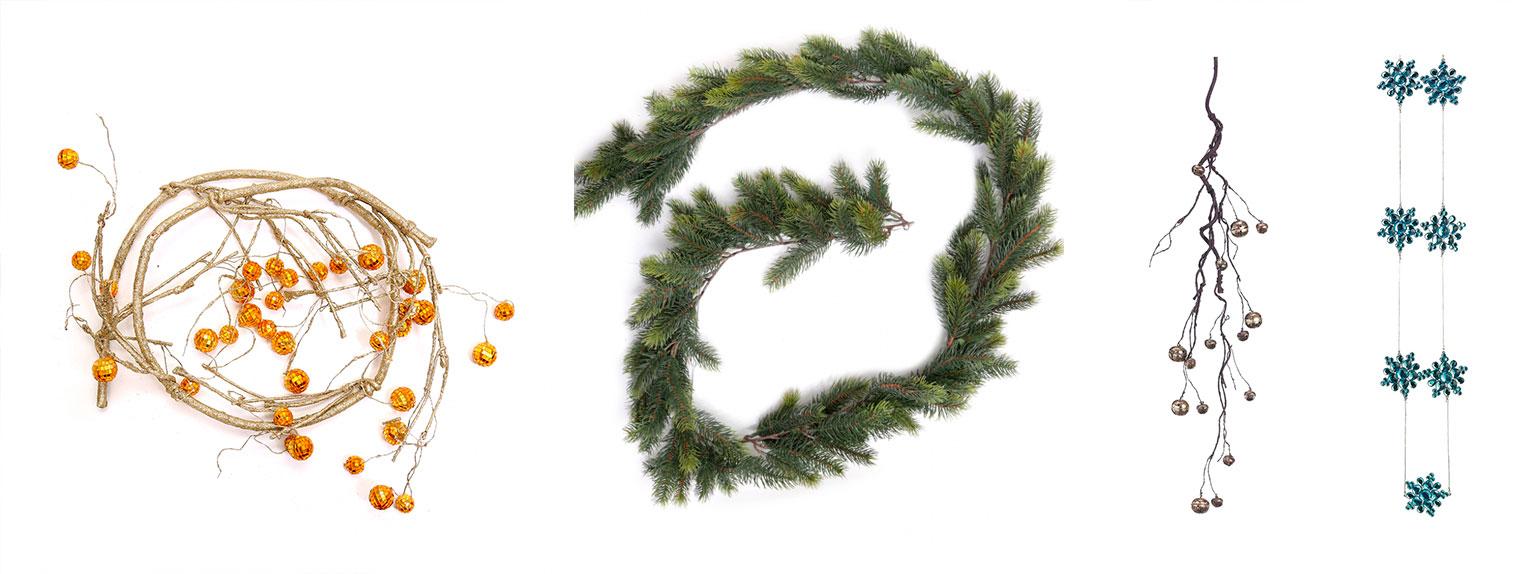 Гирлянды для новогодней елки или сервировки стола
