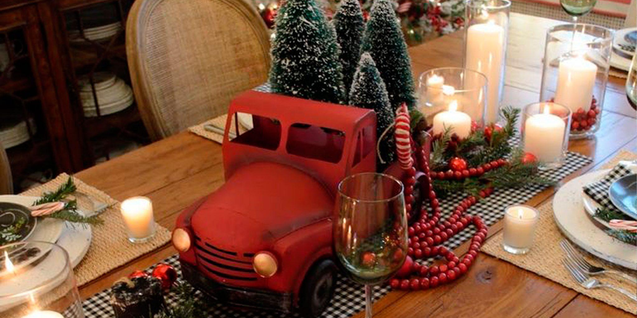 Фото декора на новогоднем столе