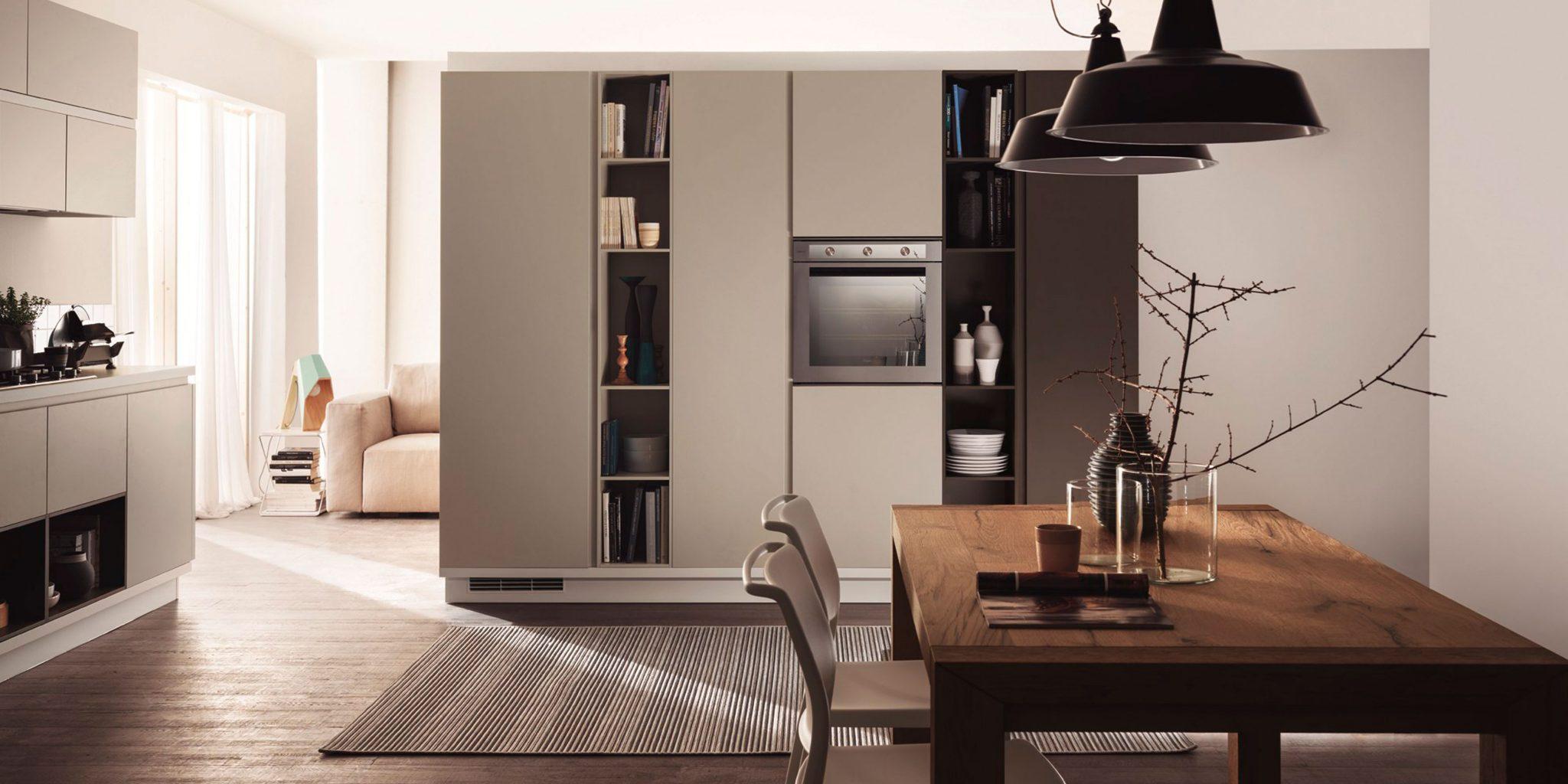 Дизайн квартиры студии с перегородкой шкафом