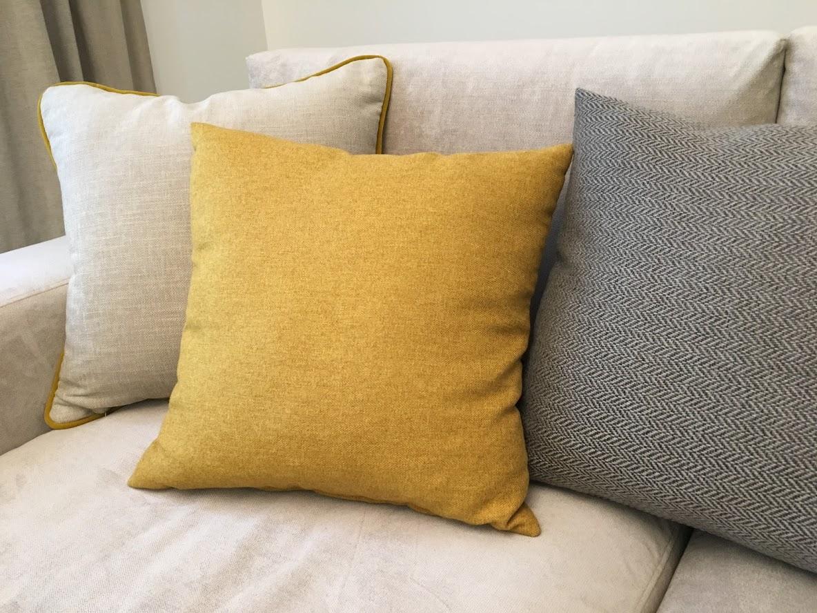 Изображение цветовых акцентов в интерьере с помощью текстиля