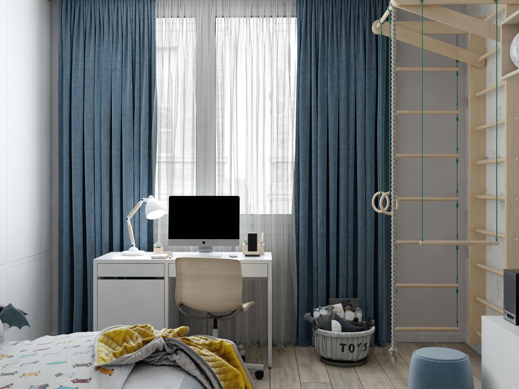 Картинка детской комнаты со шведской стенкой