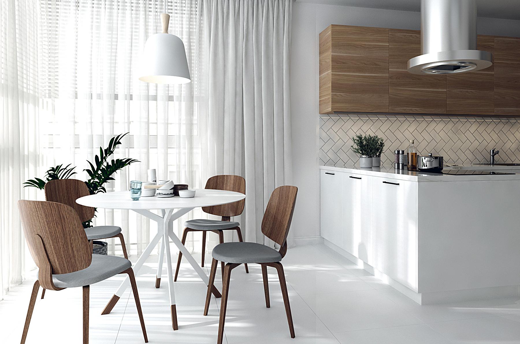 Изображение столовой зоны на кухне