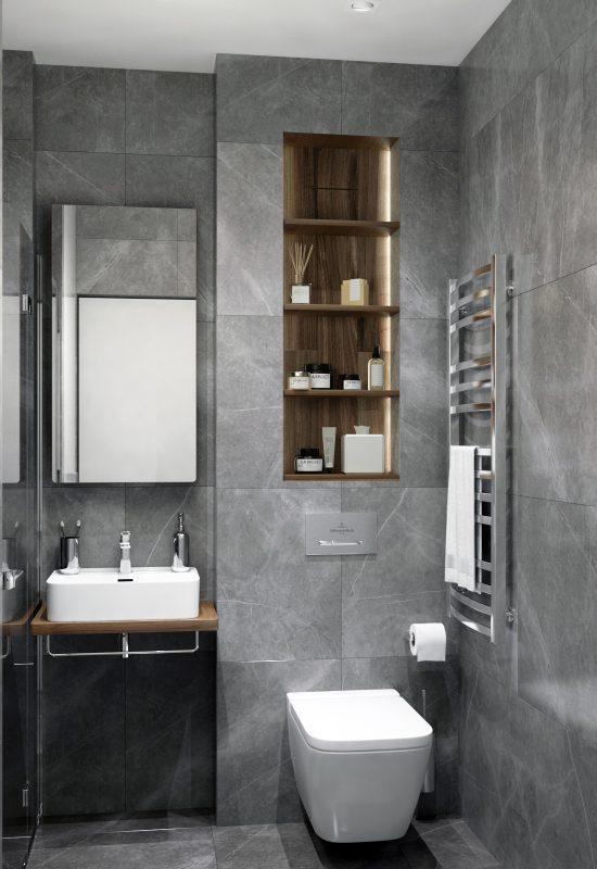 Картинка ванной комнаты в стиле лофт