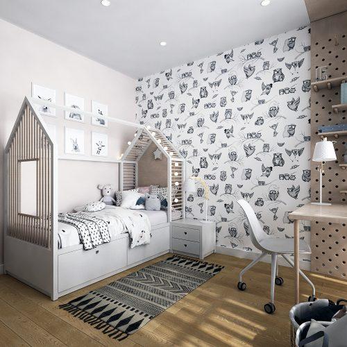 Картинка детской комнаты в светлых тонах