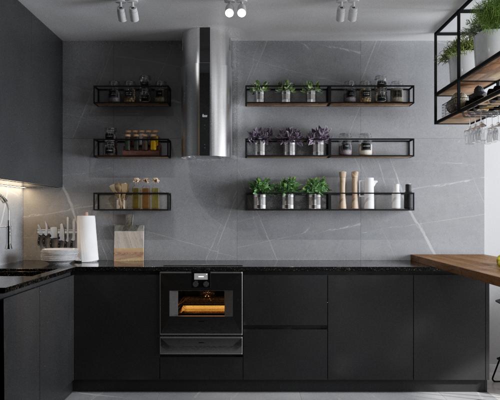 Картинка кухонной минималистичной мебели