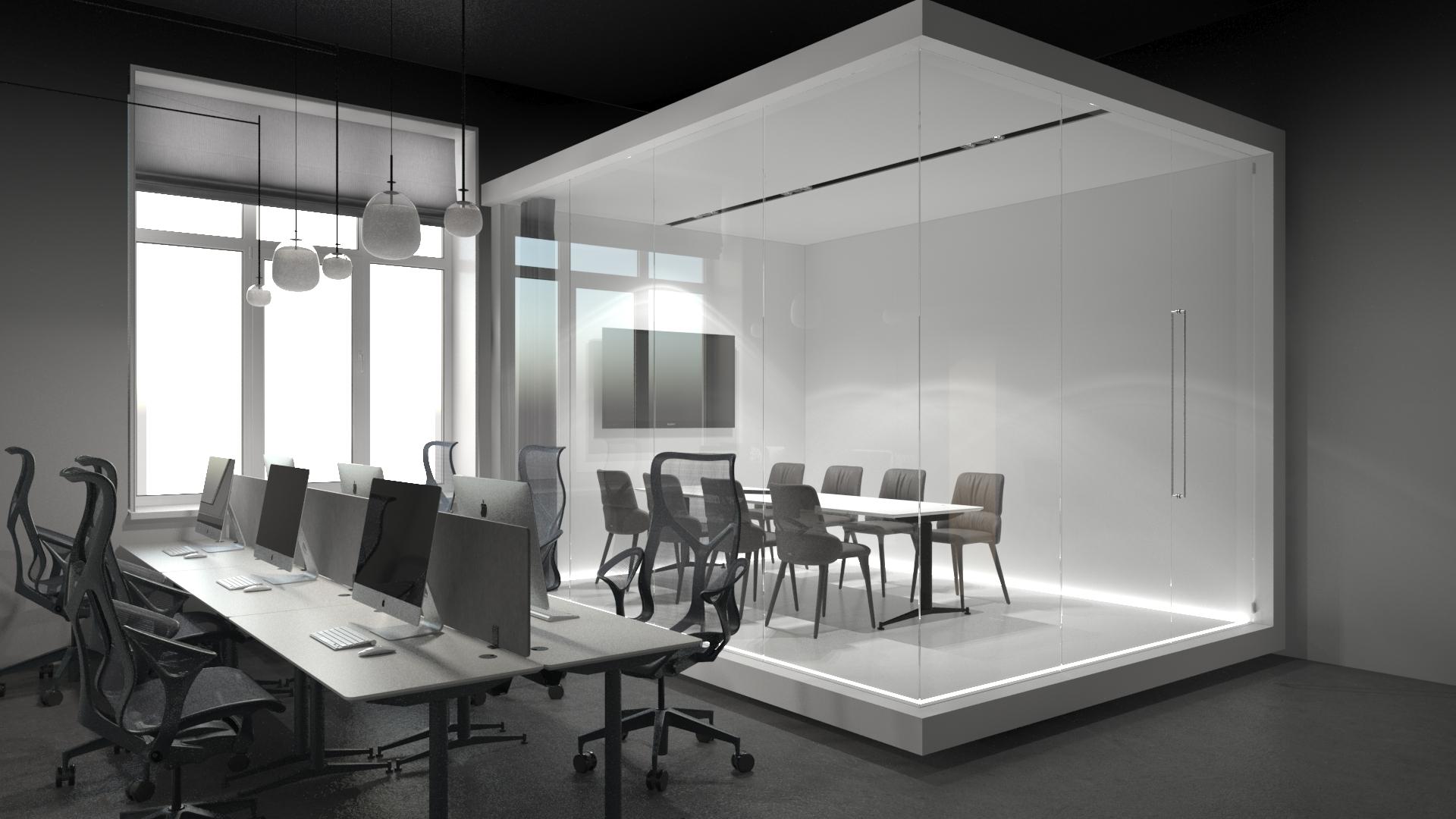 Картинка офиса в минимализме