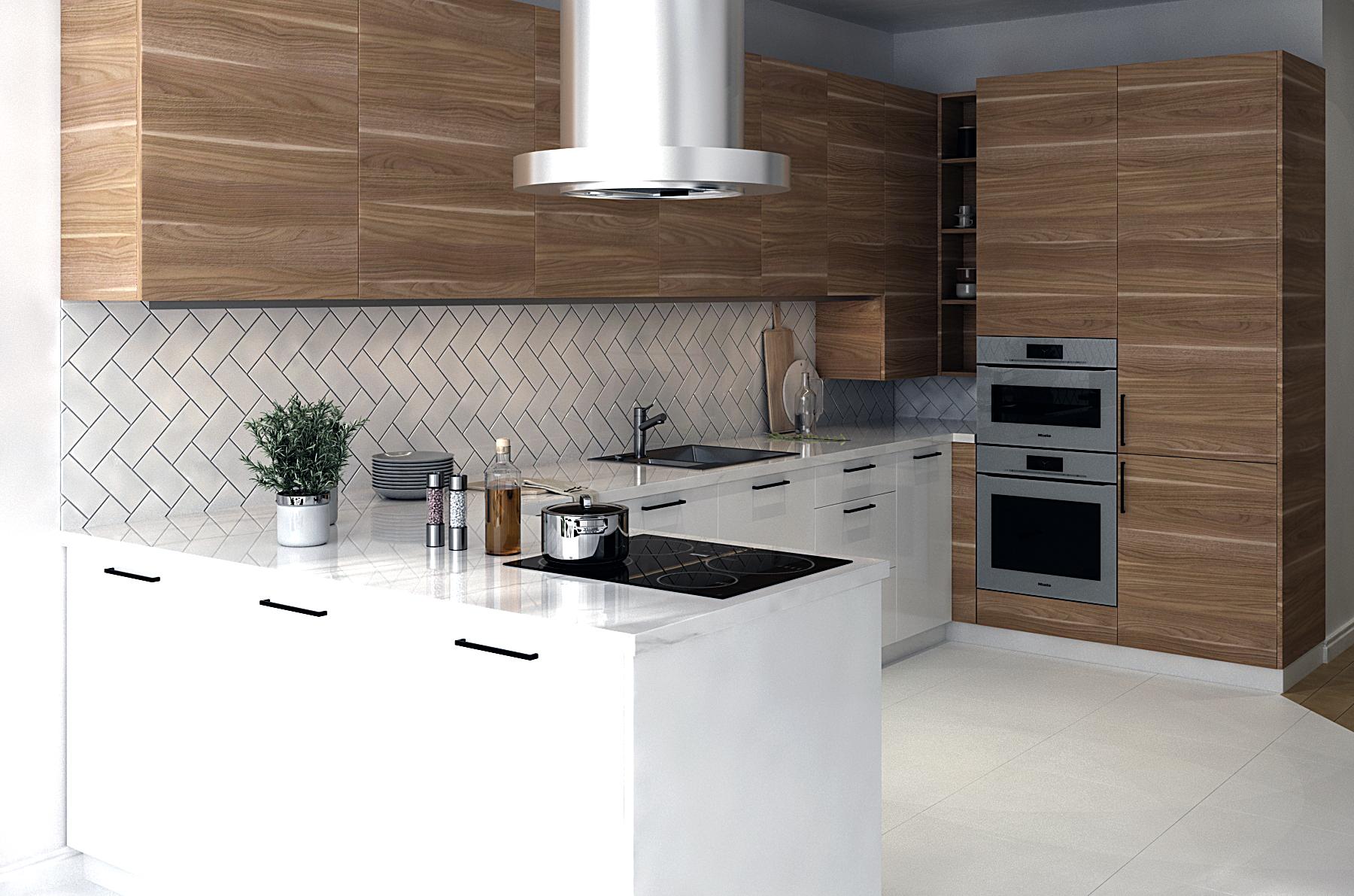 Картинка п-образной кухни