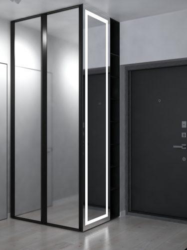 Картинка зеркального шкафа в коридоре