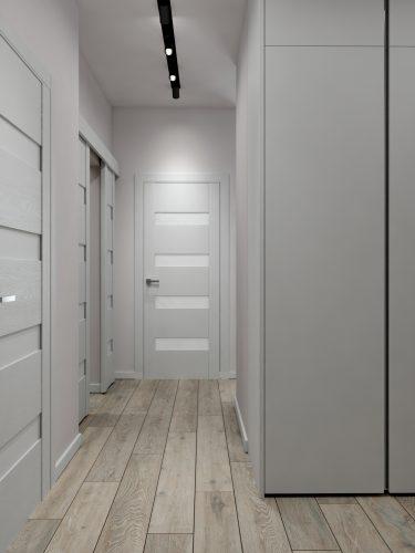 Картинка светлого коридора в минималистичном стиле