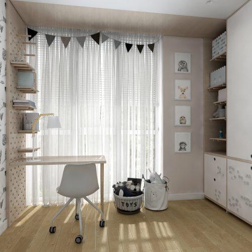 Картинка детской комнаты для девочки в скандинавском стиле